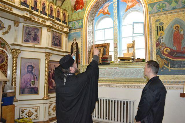 В ИК-3 начали восстанавливать росписи в православном храме